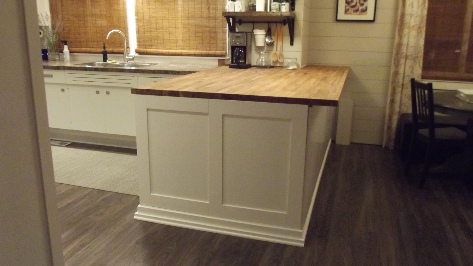 DIY Butcher Block Kitchen Island (Before and After) | Elephant Buffet